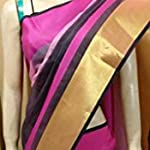 Plain / Solid Cotton Saree With blouse piece