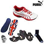 Puma Storm White and Red Shoes Hamper