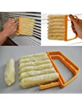 7 Slat Hand Held Blinds Windows Cleaning Brush Detachable Washable Shutters Brush
