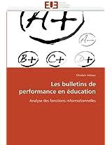 Les Bulletins de Performance En Education