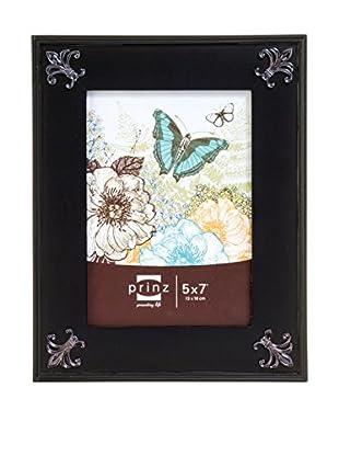Prinz Fleur-De-Lis Black Solid Wood Frame