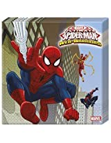 Ultimate Spiderman Web Warriors-Two-Ply Paper Napkins , Kids Birthday Party Supplies , Theme Birthday Party , Paper Napkins (pack of 20)