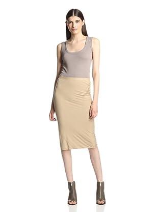 Rick Owens Lilies Women's Seamed Skirt (Ocher)