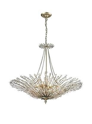 Artistic Lighting Viva Collection 8-Light Pendant, Aged Silver