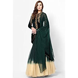 Embroidered Green Lehengas Parul Grover