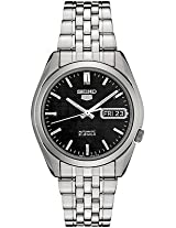Seiko 5 SNK361 Men's Stainless Steel Black Dial Self Winding Automatic Watch