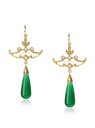 Eddera Jewelry Leonor Green Onyx Earrings