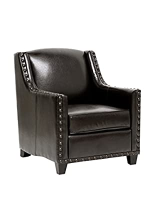 Baxton Studio AC Wallace Club Chair, Dark Brown