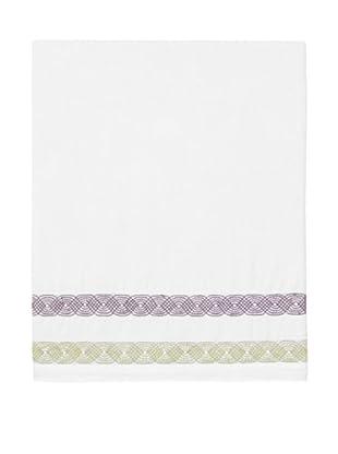 Designers Guild Alcazar Damson Flat Sheet (White)