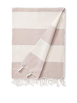 Espalma Turkish Towel Adana, Ivory/Blush