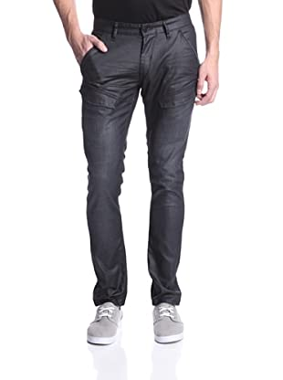 Mondo di Marco Men's Skinny Fit Denim with Front Flap Pockets (Leather)