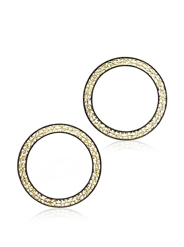 Courtney Kaye Prive Filigree Stackable Bangles, Gold/Hematite