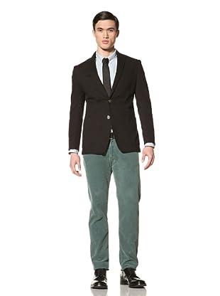 Tallia Men's Vick Stripe Two-Button Blazer (Black)