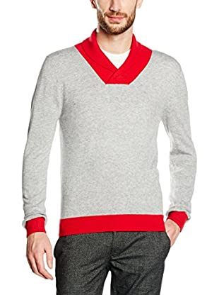 William De Faye Pullover Chale Bi Couleur