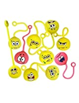 Spongebob Squarepants Party Favors Lot Of 20 Air Filled Fun Yoyo Balls Spongebob Party Supplies Birthday Yoyos