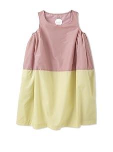 kicokids Girl's 2-Texture Parachute Tulip Dress (Potpouri/Citrus)