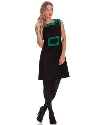 Divina Providencia Vestido Rectángulo (Negro)