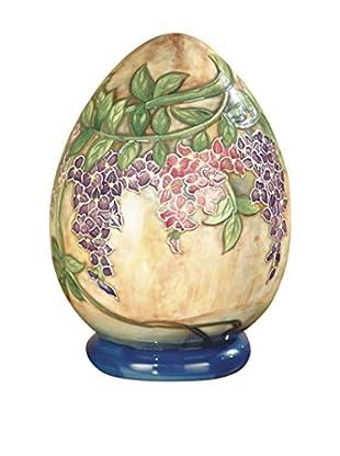 Dale Tiffany Wisteria Decorative Egg, Multi