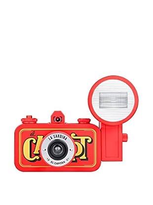 Lomography La Sardina Camera and Flash El Capitan, Red/Yellow