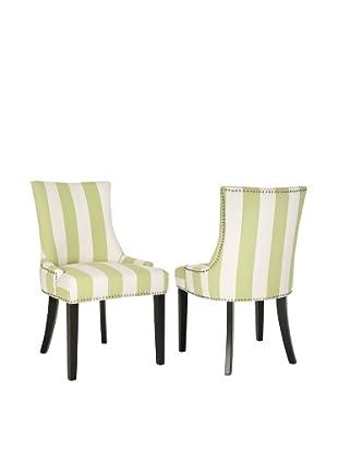 Safavieh Set of 2 Lester Dining Chairs, Multi Stripe