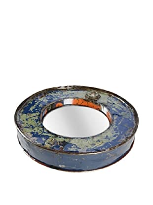 Foreign Affairs Kacat Mirror, Olive/Blue