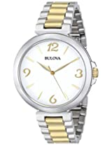 Bulova Classic Analog White Dial Women's Watch - 98L194