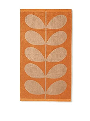 Orla Kiely Stem Jacquard Bath Towel, Tea Rose/Orange