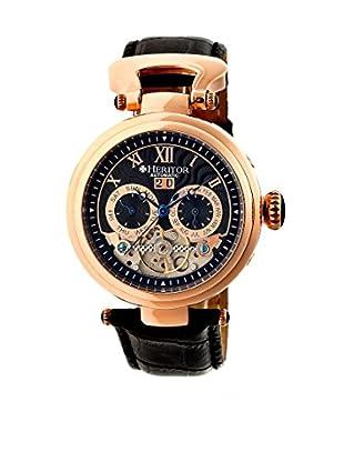 Heritor Automatic Uhr Ganzi Herhr3306 schwarz 48  mm