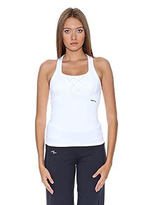 Naffta Camiseta Active / Gym (Blanco / Negro)