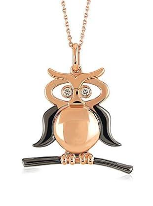 Divas Diamond Set Kette und Anhänger Diamond Gold Owl