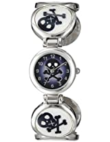 Frenzy Kids' FR314 Skull Novelty Analog Cuff Watch