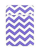 TopCase Chevron Series Purple Sleeve Bag Cover for All 15 15-inch Laptop Notebook / Macbook Pro with or without Retina Display - with TopCase Chevron Mouse Pad