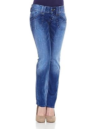 Pepe Jeans London Pantalón Vaquero Midonna (Azul Denim)