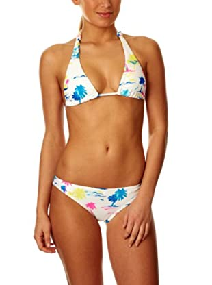 Roxy Bikini Palm Beach (Blanco / Azul)