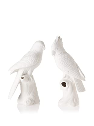 The HomePort Collection Calm and Crested Parrot Bud Vase Set