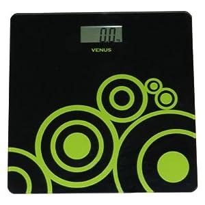 Venus Black Digital Bathroom Weighing Scale