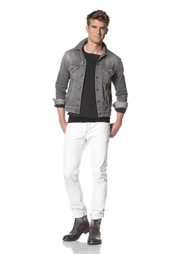 R13 Men's Denim Trucker Jacket (Grey)