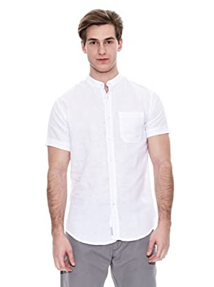Springfield Camisa Verano Ba Lino Mao S/S (Blanco)