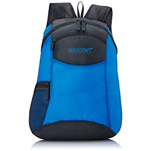 Wildcraft Pac n Go Daypack 18 Ltrs Blue and Grey Kids Bag (5-8 years age)