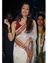 Ethnic Trend Chiffon Party Bollywood Replica Saree - 102 (Off-White)