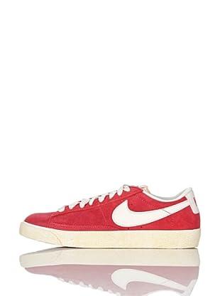 Nike Zapatillas Wmns Blazer Low Suede (Vntg) (Rojo/Blanco)
