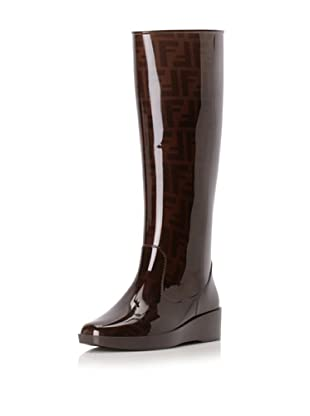 Fendi Women's Tall Rain Boot (Brown)