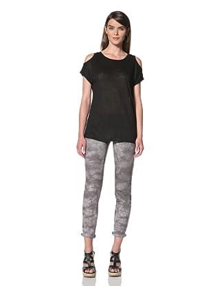 Acrobat Women's Cold Shoulder Knit Top (Black)