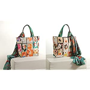 Shopping World Faux Silk With Shiffon Stole Hand Bag - Boxgirls