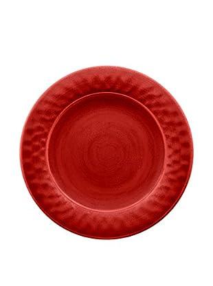 Color Wash Melamine Dinner Plate, Solid Red