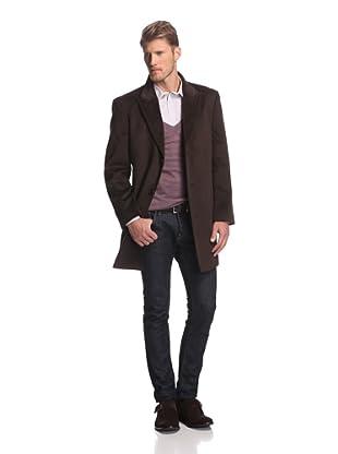 Martin Gordon Men's Peak Lapel Coat (Brown)
