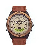 Timex Brown Leather Analog Digital Men Watch MF13