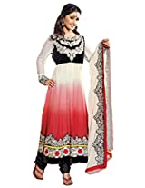 atisundar Attractive Red Embroidered Anarkali- 4137_39_317