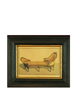 Framed Miniature Reproduction French Chaise Lounge Print