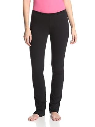 SKIN Women's Double Layer Drape Pant (Black)